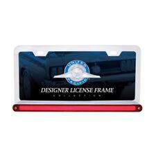 """Chrome 6"""" x 12"""" License Frame With 24 LED 12"""" Glo Light Bar - Red LED/Red Lens"""