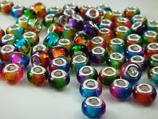50pcs mix murano DIY Jewelry charm bead fit European Bracelet beads wholesale m6