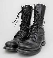 VINTAGE 1970s Black Leather US ARMY Combat Military CAP TOE Work Boots - MEN'S 6