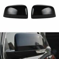 New Pair Black Mirror Covers For 2011- 2020 Jeep Grand Cherokee Dodge Durango