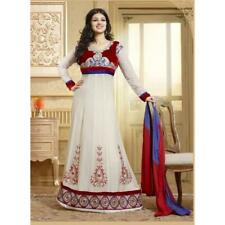 Red and Blue georgette salwar kameez, suits - 15007