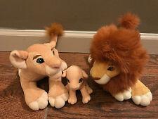 RARE 1998 Set Of 3 Disney The Lion King Simba Nala Kiara Simbas Pride Plush