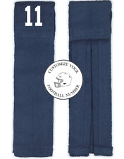 Player Number Football Towel Navy Blue White Wide Receiver Linebacker Wr Lb