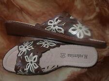 REBAJAS  sandalias tacon cuña 6,cm, mujer talla nº 40 nuevo marron beis flores