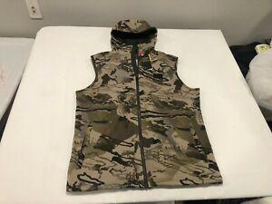 NWT $85.00 Under Armour Mens CG Storm Rut Fleece Vest Hoodie Barren Camo MEDIUM