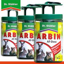 Dr.Stähler 3 X Arbin Af Boîte + Chaque 50 ML Solution Wildabweiser