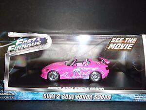 GreenLight Honda S2000 Suki's Auto Rosa Fast And Furious 86225 1/43