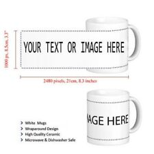 Personalised COLOURED Mug Valentine's Gift Your Image Photo Text Design Printed