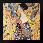 Framed Art - Lady With Fan - Klimt, Gustav - w/Frame Size & Styles