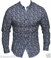 Ben Sherman Mens Button up Casual Shirt in Blue Floral Colour Size M