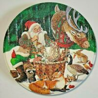 Vintage Collector Tin 1998 Potpourri by Jeanne Beury, Santa and Reindeer with fo
