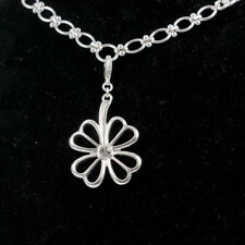 Pilgrim Womens Silver Plated Crystal Daisy Flower Necklace Earring Jewellery Set
