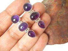 AMETHYST   Sterling  Silver  925  Gemstone  EARRINGS  -  Gift Boxed