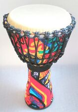 "Quatro Percussion 10"" Djembe Drum and Bag Bongo Hand Drums African Style"