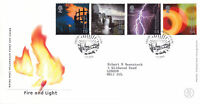 1 FEBRUARY 2000 FIRE AND LIGHT ROYAL MAIL FIRST DAY COVER  EDINBURGH SUNBURST a