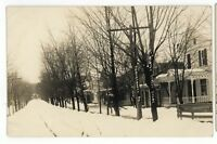 RPPC Snowy Day Winter TUNKHANNOCK PA Wyoming County Vintage Real Photo Postcard
