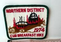 Northern District Cub Breakfast Hike Boy Scouts Vintage Patch 1974 USA
