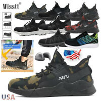 Men's Safety Steel Toe Work Shoes Indestructible Sport Boots Mesh Light Sneakers