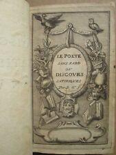 GACON : LE POETE SANS FARD ou discours satiriques en vers. Cologne, 1696.