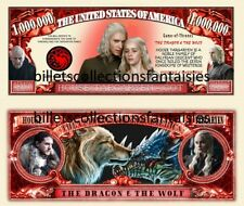 Game of Trones TARGARYEN . Million Dollar . Billet de commémoration / Collection