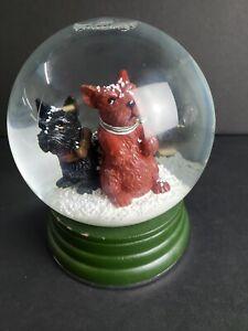 Scotty Dog Snow Globe Thomas Obrien Vintage Modern Holiday 2007 Collectible
