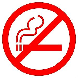 No Smoking vinyl sticker - cafe's restaurant cars home cigarette smoking warning