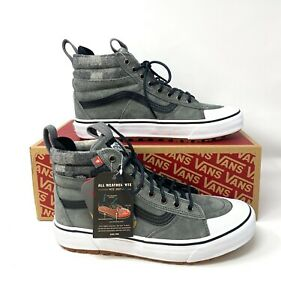 VANS Sk8-Hi MTE 2.0 Dx Pewter Gray Suede Men's Sneakers Boots Size VN0A4P3I2YU