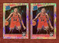 Lot of (2) 2018-19 Donruss Optic WENDELL CARTER Rated Rookie Shock Holo 170 RC🔥