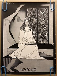Veiled Isis Original Vintage Poster Veil Pinup Abstract Collage Trippy 1967