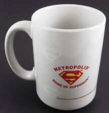 Metropolis Illinois HOME OF SUPERMAN Large Coffee Cup Mug Travel Souvenir