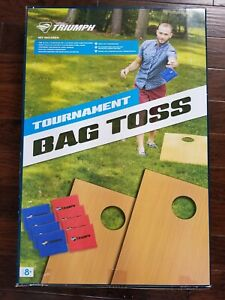 NEW TriStat Sports USA Tournament Bag Cornhole Game Set Bean Toss Boards Outdoor