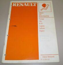 Werkstatthandbuch Renault Twingo Clio Laguna Safrane Espace Airbag Gurtstraffer!
