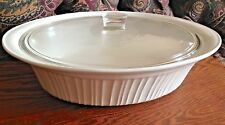 4 Quart FRENCH WHITE DUTCH OVEN / CASSEROLE w/ LID by CORNING WARE