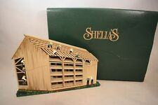 Shelia'S 1997 Amish Barn Raising Shelf Sitter Nib Ams09 (618)