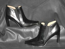 Circa Joan & David  womens Black leather zip up ankle Boot Booties size 7M