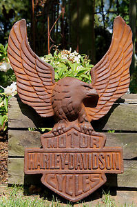 HARLEY DAVIDSON ,Motorcycles ,Harley ,Motorrad, Schild,Emblem ,Gusseisen,Adler!