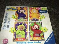 TELETUBBIES PUZZLE RAVENSBURGER JIGSAW PUZZLE 4X PUZZLES CHUNKY ,COMPLETE