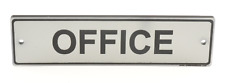 Oficina Puerta signo. Contemporáneo Plata Diseño Se envía con Reparación