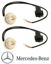 Mercedes W203 W211 E & C-Class Pair Set of 2 Front Bulb Socket Turn Signals OES