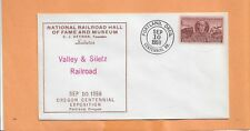 NATIONAL RAILROAD HALL OF FAME SALUTES VALLEY & SILETZ RAILROAD   1959