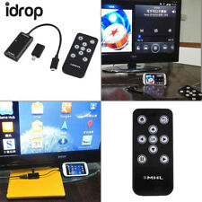 idrop MHL Micro USB to HDMI HDTV Adapter+Remote Control for Android