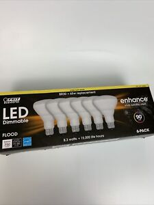 FEIT Electric 65w Replacement BR30 LED Dimmable FLOOD Lights 6Pack 5000k Softwht