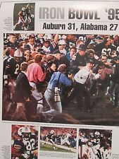 AUBURN TIGER FOOTBALL 1995 IRON BOWL CHAMPS POSTER FROM THE BHAM POST HERALD