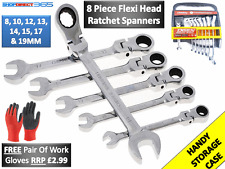 Ratchet Spanner Set. 8 Metric Combination Ratcheting Spanners sizes 8-19mm #2330