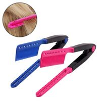 Spring Grip Straightening Comb Flat Iron Hair Dryer Hot Tool Professional Dryer