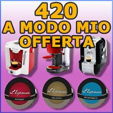 420 capsule cialde caffè compatibili A MODO MIO PROMO a scelta