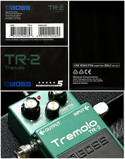 Boss TR-2 Tremolo Effects Pedal With Classic Tremolo Sounds