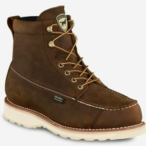 Irish Setter WINGSHOOTER 891 Dark Brown Waterproof Leather Lace Up Boots *