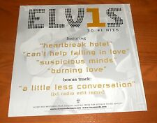 Elvis 30 #1 Hits Poster 2-Sided Flat Square 2002 Promo 12x12