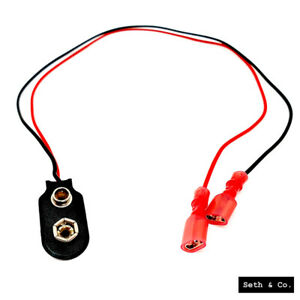 5 x PP3 9V Snap-In Battery Clip Connector 150mm Leads